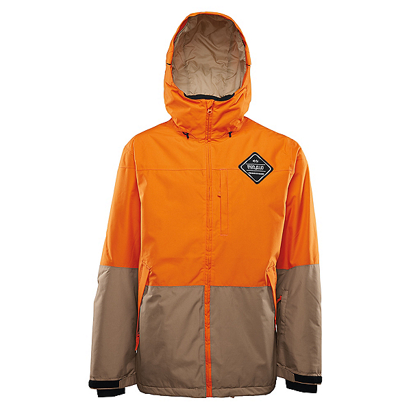 ThirtyTwo Shiloh Mens Insulated Snowboard Jacket, Orange, 600