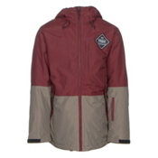 ThirtyTwo Shiloh Mens Insulated Snowboard Jacket, Burgundy, medium