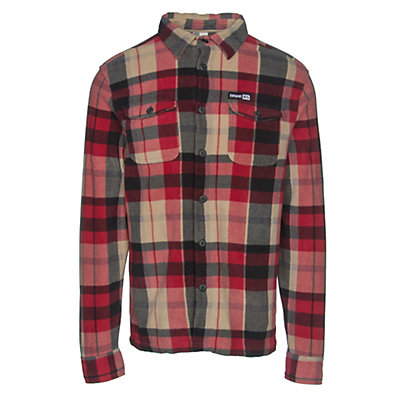 ThirtyTwo Rest Stop Woven Flannel Shirt, Red, viewer