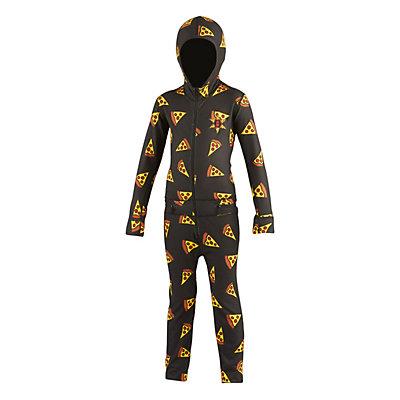 Air Blaster Ninja Suit Kids Long Underwear Top, Pizza, viewer