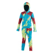 Air Blaster Ninja Suit Kids Long Underwear Top, Tie Dye, medium