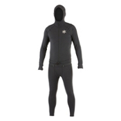 Air Blaster Classic Ninja Suit Mens Long Underwear Top, Black, medium