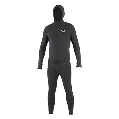 Air Blaster Classic Ninja Suit Mens Long Underwear Top, Black, viewer