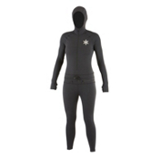 Air Blaster Classic Ninja Suit Womens Long Underwear Top, Black, medium