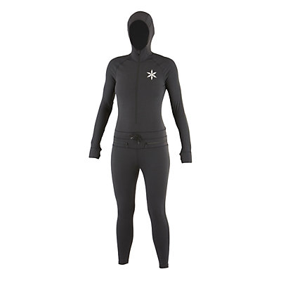 Air Blaster Classic Ninja Suit Womens Long Underwear Top, Black, viewer