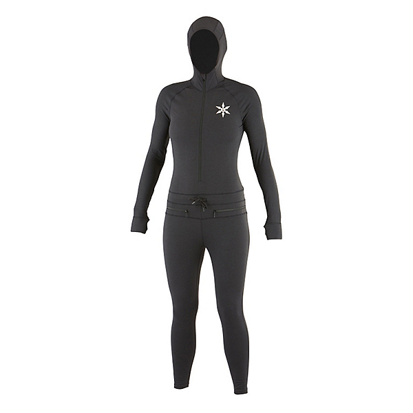 Air Blaster Classic Ninja Suit Womens Long Underwear Top, Black, 600