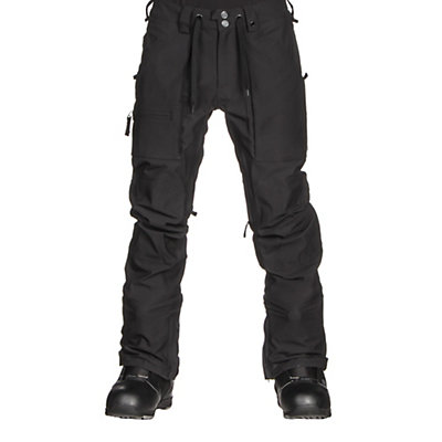 Burton Southside Slim Fit Mens Snowboard Pants, True Black, viewer