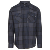 Oakley Adobe Woven Mens Flannel Shirt, Fathom, medium