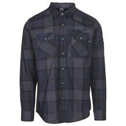 Oakley Adobe Woven Mens Flannel Shirt, Fathom, 256