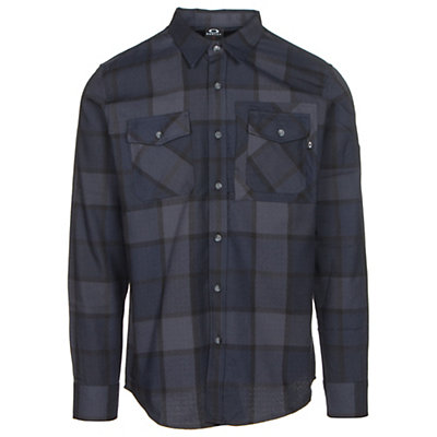 Oakley Adobe Woven Mens Flannel Shirt, Fathom, viewer