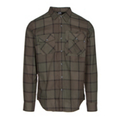 Oakley Adobe Woven Mens Flannel Shirt, Dark Brush, medium
