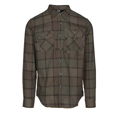 Oakley Adobe Woven Mens Flannel Shirt, Fathom, viewer