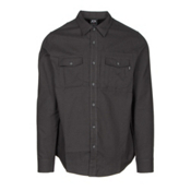 Oakley Adobe Woven Flannel Shirt, Jet Black Heather, medium