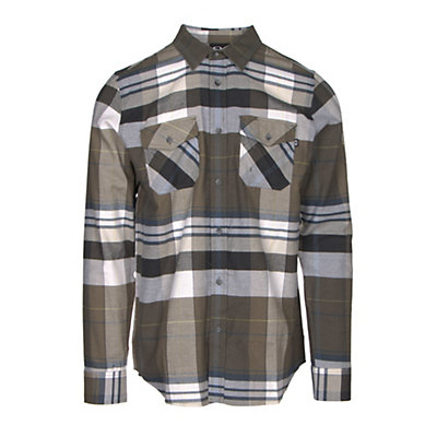 Oakley Frontier Woven Flannel Shirt, Dark Brush, viewer