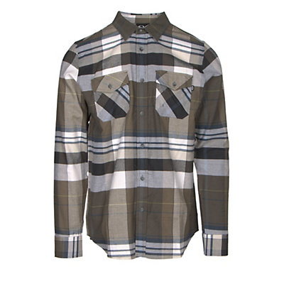 Oakley Frontier Woven Mens Flannel Shirt, Dark Brush, viewer
