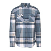Oakley Frontier Woven Flannel Shirt, Blue Shade, medium