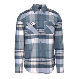 Oakley Frontier Woven Mens Flannel Shirt, Blue Shade, 256