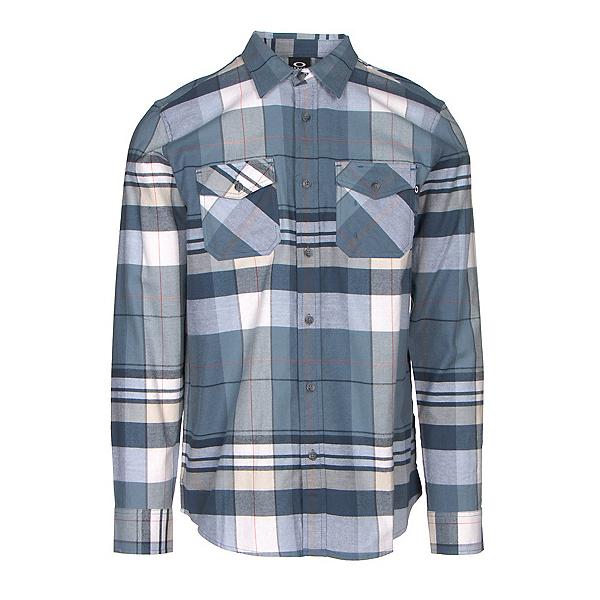 Oakley Frontier Woven Mens Flannel Shirt, Blue Shade, 600
