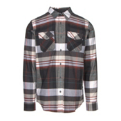 Oakley Frontier Woven Flannel Shirt, Jet Black, medium