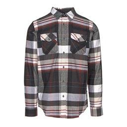 Oakley Frontier Woven Mens Flannel Shirt, Jet Black, 256