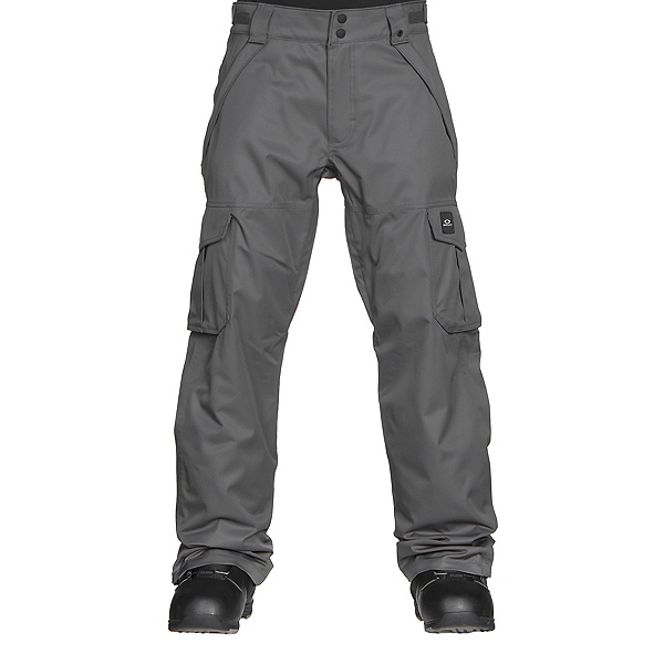 Oakley Arrowhead BioZone Insulated Mens Snowboard Pants, Forged Iron, 600