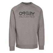 Oakley DWR Factory Pilot Crew Mens Sweater, Athletic Heather Grey, medium