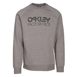 Oakley DWR Factory Pilot Crew Mens Sweater, Athletic Heather Grey, 256