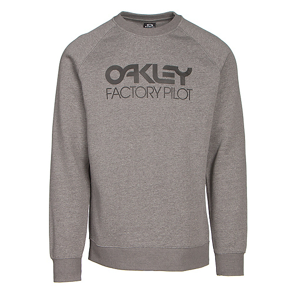 Oakley DWR Factory Pilot Crew Mens Sweater, Athletic Heather Grey, 600