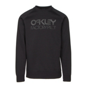 Oakley DWR Factory Pilot Crew Mens Sweater, Jet Black, medium