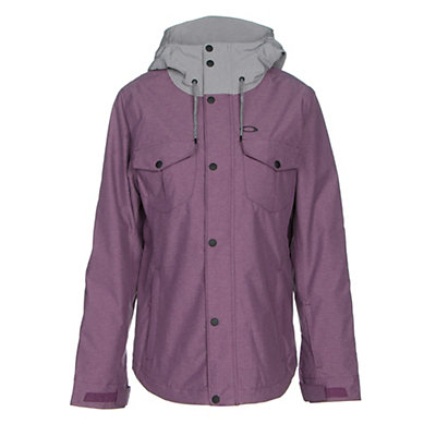 Oakley Charlie BZI Womens Insulated Snowboard Jacket, Deep Plum, viewer
