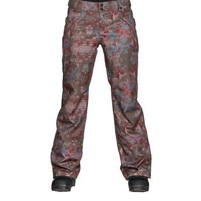 Oakley Stickline BZI Womens Snowboard Pants, Canteen Floral, viewer