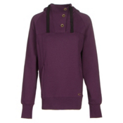 Oakley Grits Womens Hoodie, Deep Plum, medium
