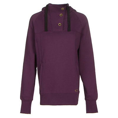 Oakley Grits Womens Hoodie, Deep Plum, viewer