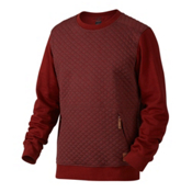 Oakley Chips Thermal Crew Mens Sweater, Fired Brick, medium
