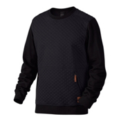 Oakley Chips Thermal Crew Mens Sweater, Jet Black, medium