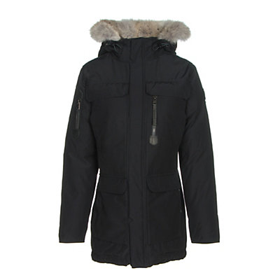 Sorel Womens Caribou Parka, Black, viewer