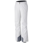 Columbia Bugaboo Omni-Heat Short Womens Ski Pants, White, medium