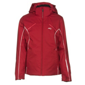 KJUS Formula Girls Ski Jacket, Biking Red-White, medium