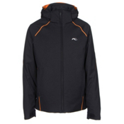 KJUS Formula Boys Ski Jacket, Black-Kjus Orange, medium