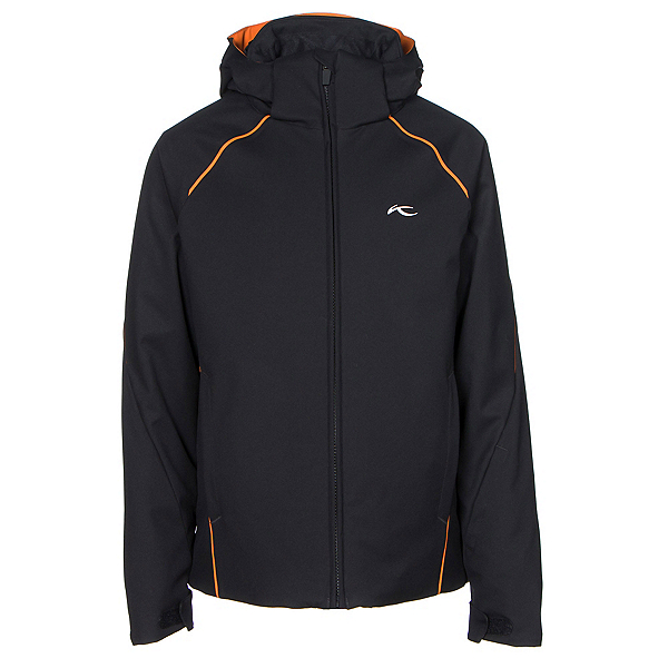 KJUS Formula Boys Ski Jacket, Black-Kjus Orange, 600