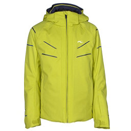 KJUS Formula DLX Boys Ski Jacket, Citronelle-Atlanta Blue, 256