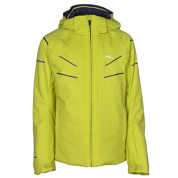 KJUS Formula DLX Boys Ski Jacket, Citronelle-Atlanta Blue, 600