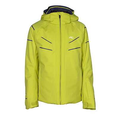 KJUS Formula DLX Boys Ski Jacket, Citronelle-Atlanta Blue, viewer