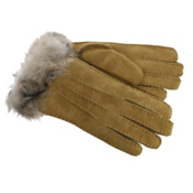 UGG 3-Point Sheepskin Toscana Womens Gloves, Chestnut M, medium