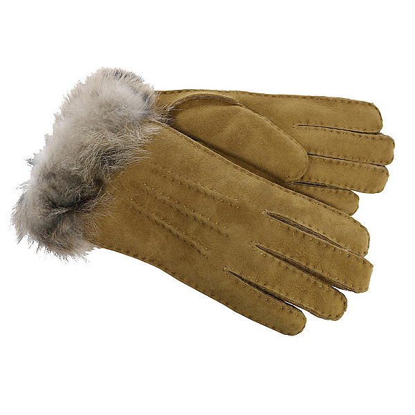 UGG 3-Point Sheepskin Toscana Womens Gloves, Chestnut M, 600
