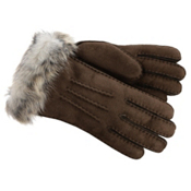 UGG 3-Point Sheepskin Toscana Womens Gloves, Chocolate M, medium
