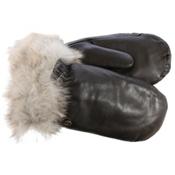 UGG Leather Womens Mitten, Brown, medium