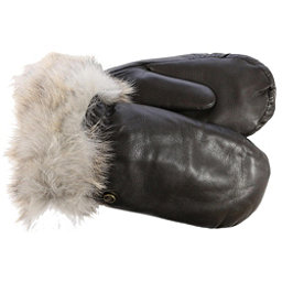 UGG Leather Womens Mitten, Brown, 256