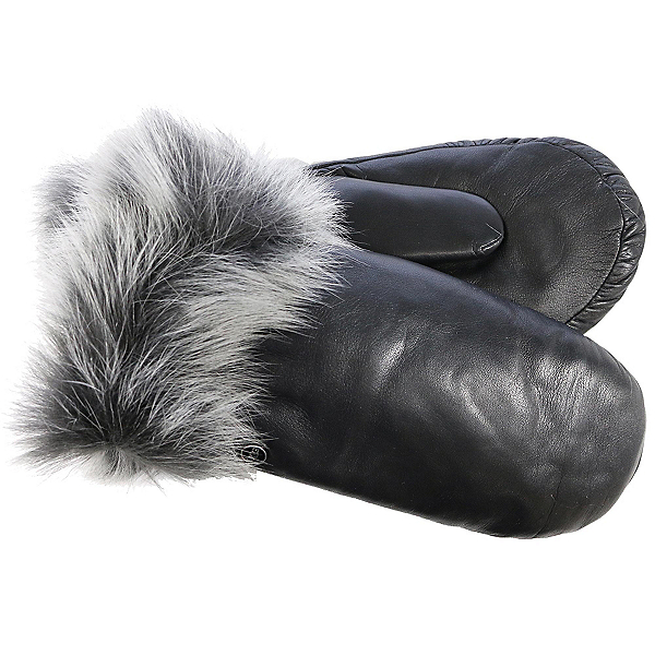 UGG Leather Womens Mitten, Black, 600