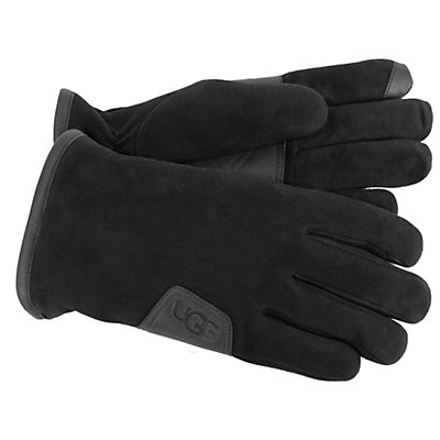 UGG Suede Touch Mens Gloves, Black, viewer